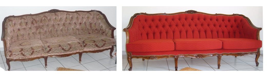 Sofa alt und neu - Heutz Raumausstattung